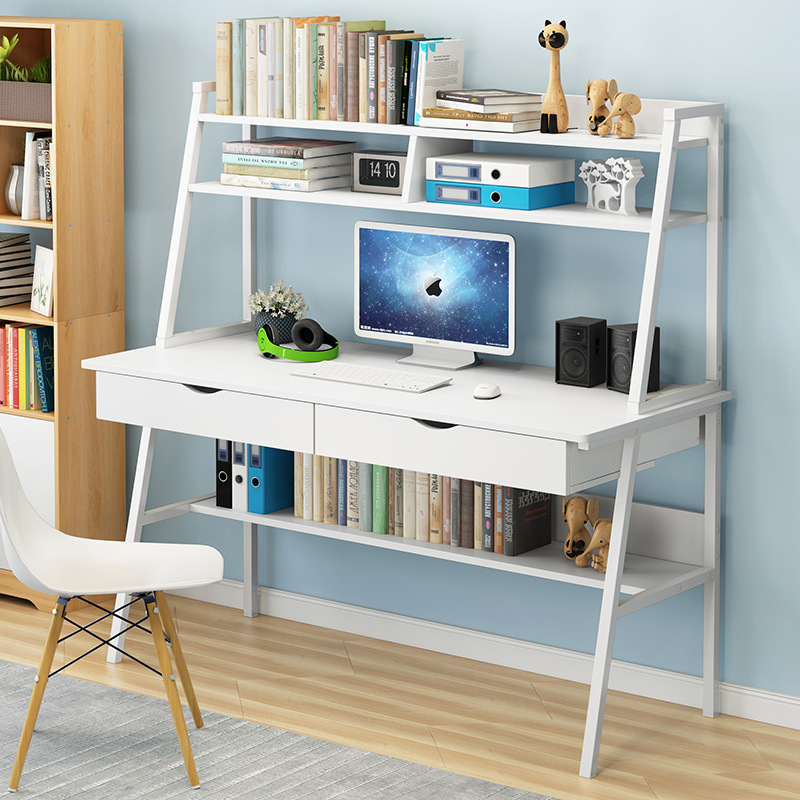 Home Desktop Computer Desk Simple And Easy Desk With Bookcase Desk Combination Simple Economic Bedroom Student Writing Desk