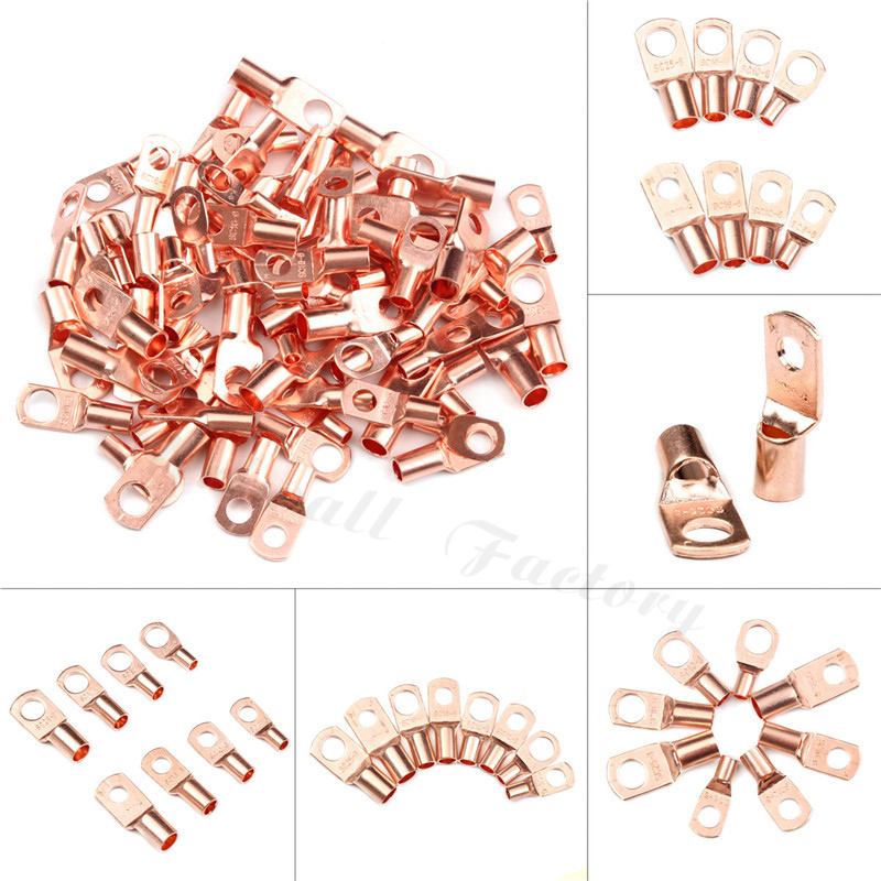 10mm Red Crimp 6-6.5 Hole Ring Crimp 20 Pack Ideal For 10mm Earth Cables