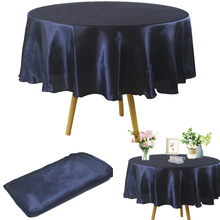 Round Tablecloth Overlay Wedding Christmas Party Banquet Satin Home for Birthday Baby