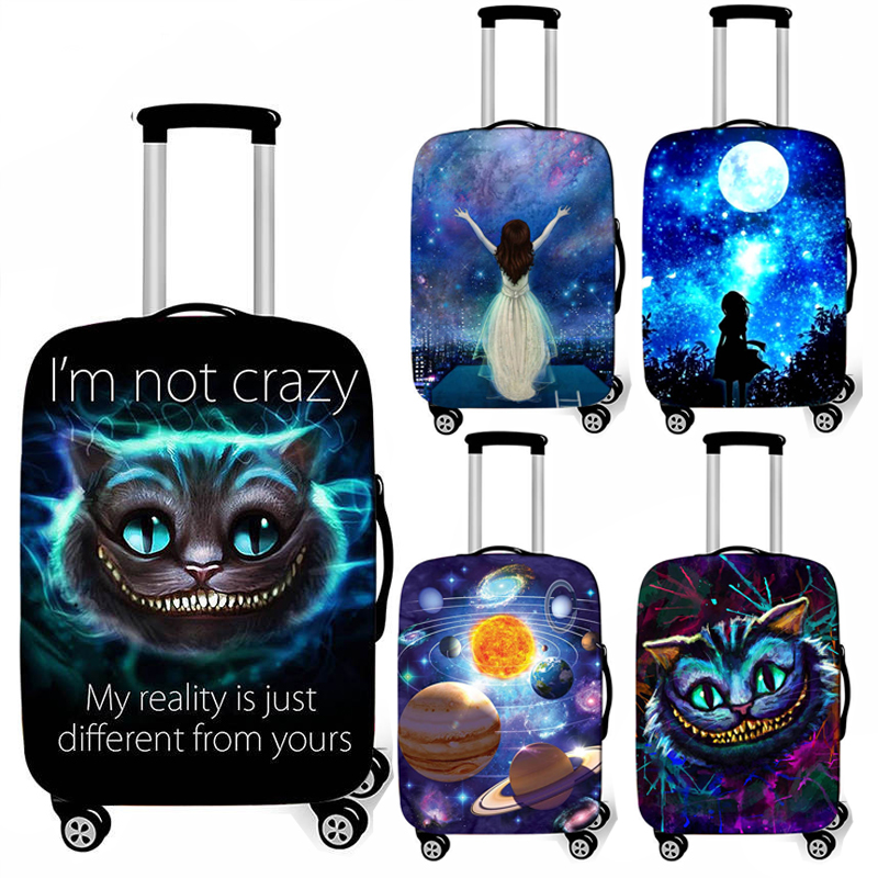Galaxy / Universe / Cat Luggage Protective Cover For Travelling 18-32 Inch Trolley Case Suitcase Covers Travel Accessories