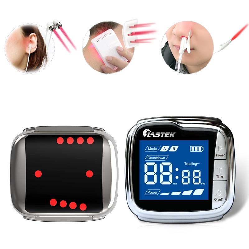 20 diodes laser 650nm contrôle du diabète sang froid laser appareil de thérapie de l'hypertension artérielle pour anti-douleur, acouphènes, rhinite