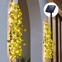 Solar Ivy String Lichter, künstliche Reben Lichter Girlande Fee Lichterketten Grün Leaf Vine Licht Im Freien für Party Garten Decor