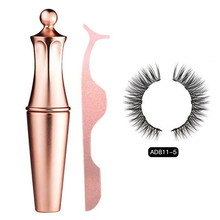 Women Charming Magnetic Fluffy Make Up Curly Extension Eyeliner Kit False Eyelashes Cosmetic Party Gift Reusable