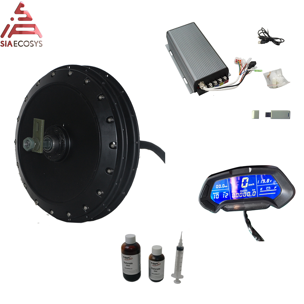 <font><b>QS</b></font> <font><b>Motor</b></font> <font><b>273</b></font> 40H V3 4kW Electric high power bicycle spoke <font><b>motor</b></font> with SVMC72200 controller kit image