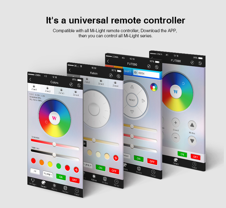 Image 5 - Mi Light iBox2 LED WIFI Controller Smart 2.4G Wireless WiFi rgb Controller For Mi Light RGBW WW LED Bulb Strip Light Lamp-in RGB Controlers from Lights & Lighting
