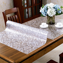 PVC Tablecloth Waterproof Glass Transparent Kitchen-Pattern 1-2mm Mat