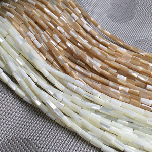 Natural shell beading beads Punch loose beads isolation bead for Jewelry Making DIY for bracelet necklace size 4x8 5x10mm(China)
