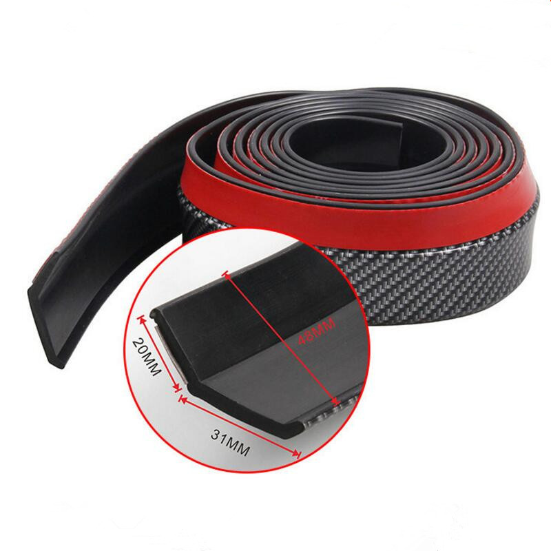 Car <font><b>Front</b></font> <font><b>Bumper</b></font> Lip Rubber Protector Car Accessorie for Volkswagen <font><b>VW</b></font> <font><b>Golf</b></font> 4 6 <font><b>7</b></font> <font><b>GTI</b></font> Tiguan Passat B5 B6 B7 CC image