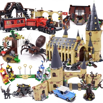 New 2020 Magic Harris Series Clock Tower Castle Building Blocks Classic Model Sets Bricks Kids Kits Cartoon Game TV Animals image