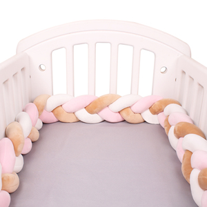 2M Baby Bumper Bed Braid Knot Pillow Cushion Bumper for Infant Bebe Crib Protector Cot Bumper Room Decor