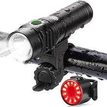 Ultra Bright Flashlight 800LM Bicycle Lights Support USB Charging, Built-in lED, Multi-function Rain Proof in Bicycle Lighting