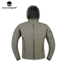 emersongear Man SoftShell Jackets Outdoor Camping Hiking Winter Coat Hunting Windbrer Jacket Hooded Hunt Coats EM6873 недорого