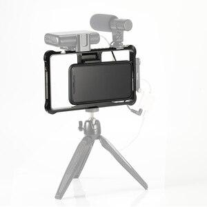 Image 4 - منصة صغيرة عالمية للهاتف المحمول قفص تسجيل الفيديو اطلاق النار قفص الهاتف الملحقات مع الحذاء البارد Mount  2391