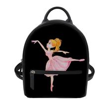 Women's luxury backpacks Custom patterns Ballet girl Print Bagpack Casual Anti Theft Backpack for ladies travel backpack