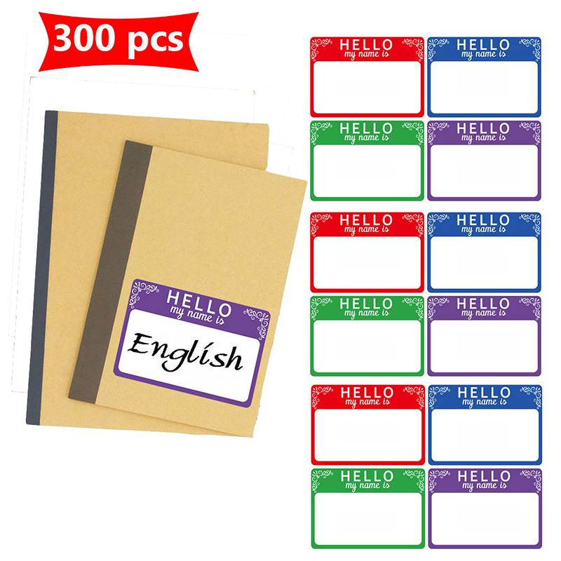 Hello My Name Is Name Tag Stationery Sticker Is Very Suitable For Kids, Employees, Professionals, Color School Office Stickers