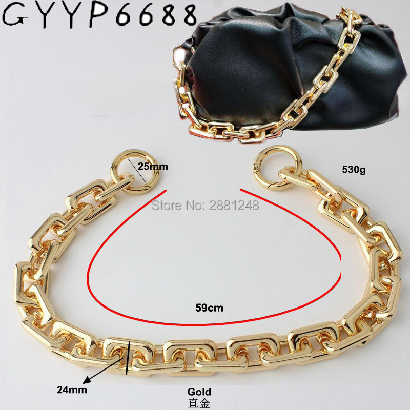New 17mm 24mm Zinc Alloy Heavy Chain Bags Strap Parts DIY Replacement Cloud Bag Handles  Style Matching Accessory High Quality