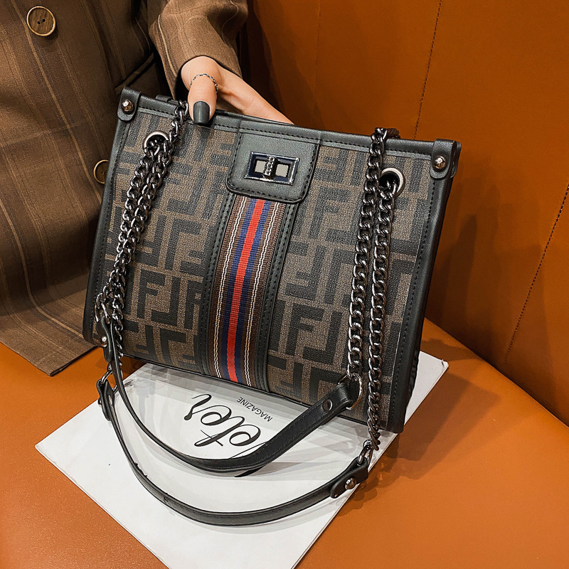 Сумка, сумки, новинка 2020, осенне-зимняя атмосферная модная сумка на плечо с цепочкой, вместительная сумка-мессенджер, портативная маленькая ...