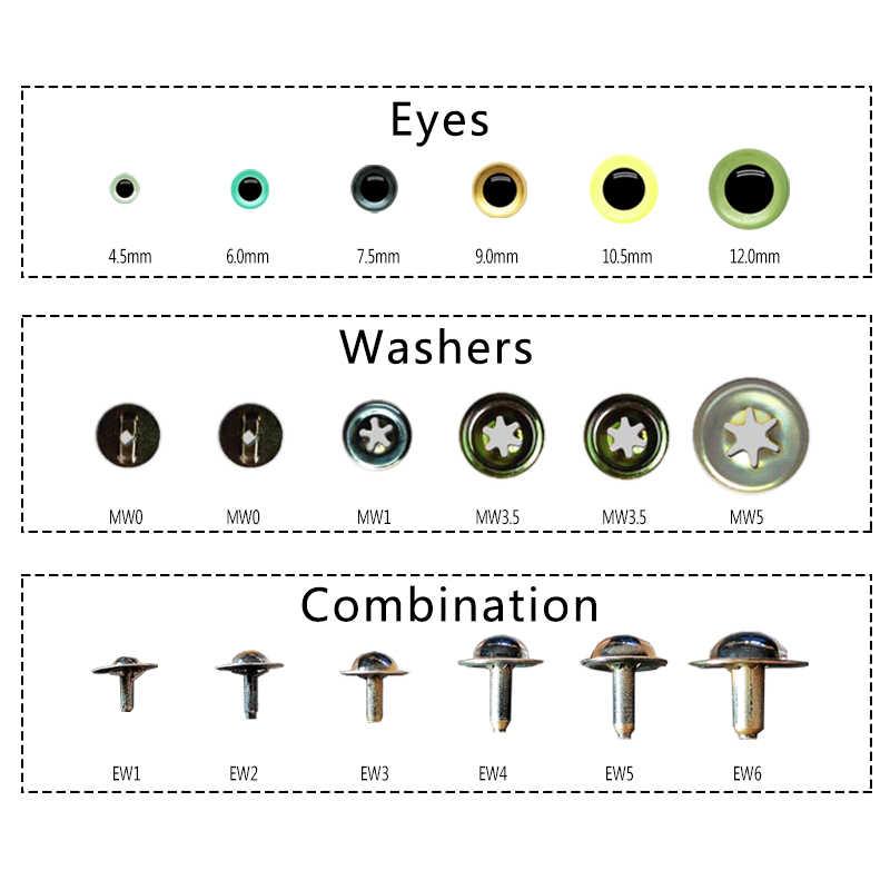 50 Acrylic Toy Teddy Eyes 25 Pairs Soft Toy Amigurumi Animal Eyes ML