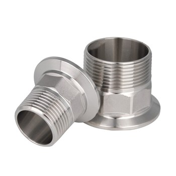 1/2 DN15-2DN50 Stainless Steel SS304 Sanitary Male Threaded Ferrule OD 50.5mm fit 1.5 Tri Clamp pneumatic 2 in tri clamp sanitary butterfly valve ss304 staininless