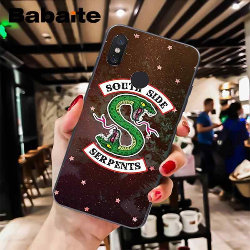 Babaite Riverdale lado sur serpiente personalizada foto teléfono funda para xiaomi6 MIX2 note3 redmiK20 7 xiaomi8 SE red minote4 4X note5 5A