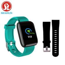 Kleur Screen Smart Horloge Usb Smart Armband Sport Stappenteller Horloge Fitness Running Walking Tracker Hartslag Stappenteller Smartband