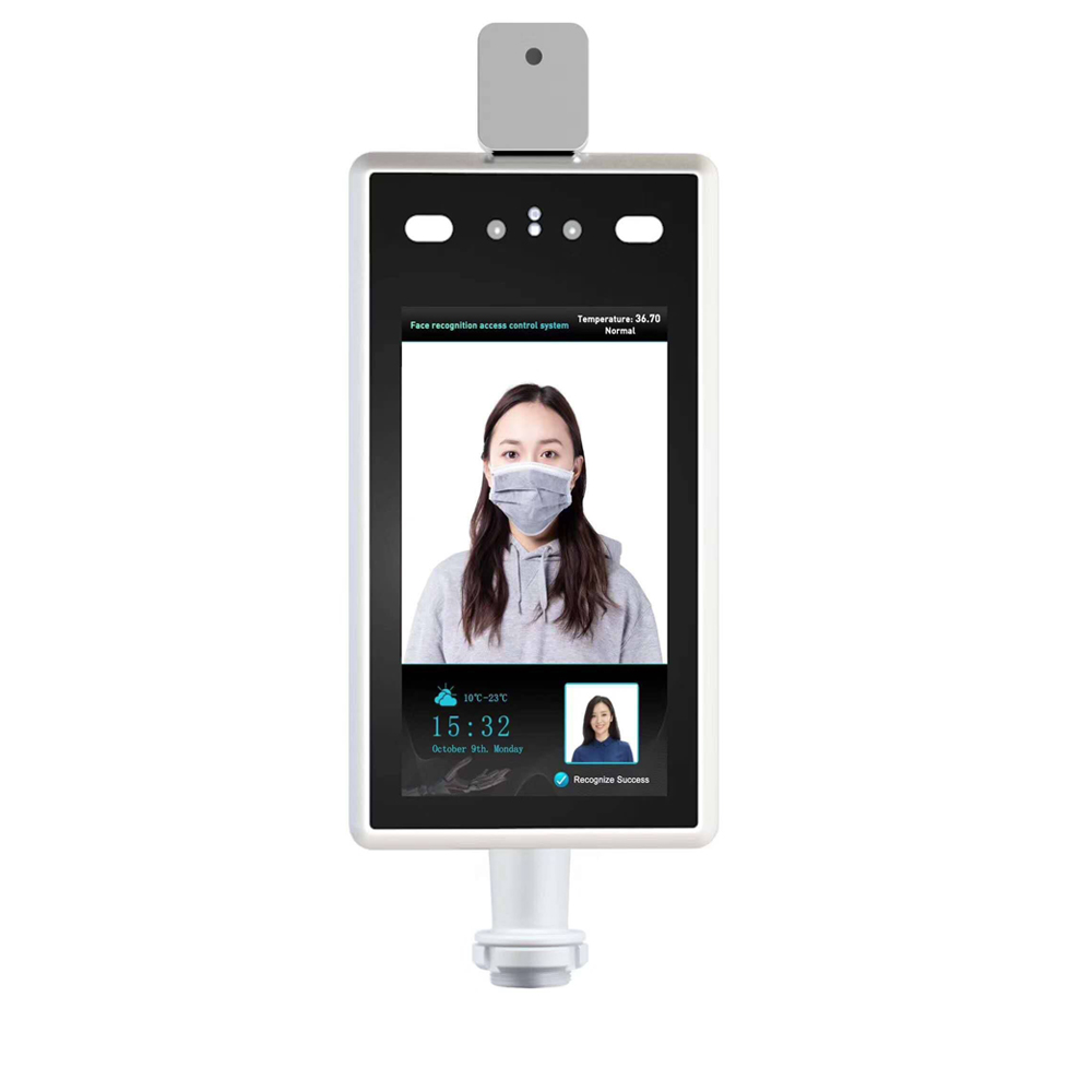 Access Control Camera Face Recognition Indicator Non-Contact Body Thermometer Temperature Warning For Entrance And Exit