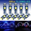 10 шт. T5 светодиодные лампы W3W W1.2W Led Canbus автомобиля Подсветка салона приборной панели потепления индикатор клин авто габаритный фонарь 12V