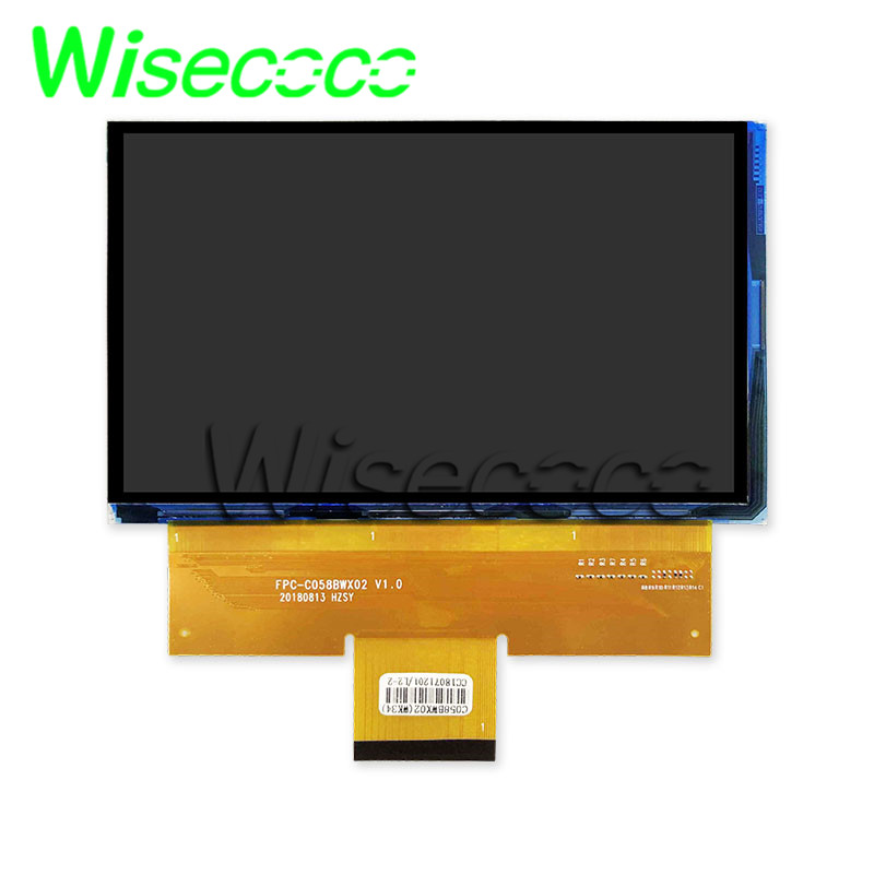 Wisecoco For CL720 CL720D CL760 5.8 Inch Projector LCD Screen C058GWW1-0 Projector TM058JFHG01 HTP058JFHG02