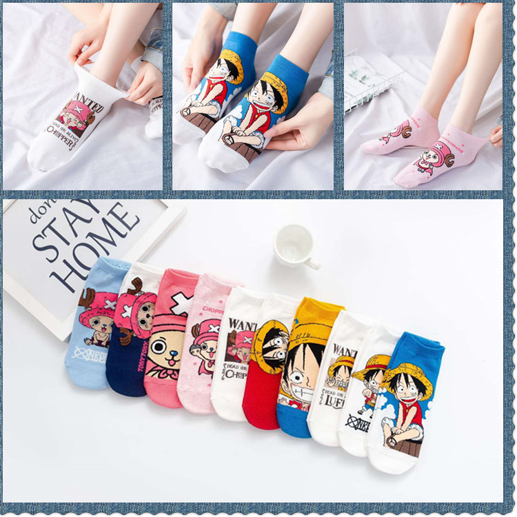 One Piece Sock For Woman Adult Kawaii Ladies Soft Sox Cartoon Socks Anime Cotton Spring Female Trendy Japanese Girls Calcetines