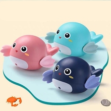 1 PC Cute Cartoon Dolphin Classic Baby Water Toy Infant Swim Fish Wound-up Chain Clockwork Kids Beach Bath Toys недорого