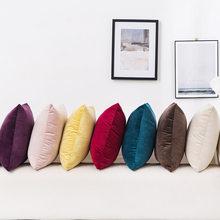 Novo luxo veludo capa de almofada capa de almofada fronha verde amarelo rosa cinza casa decorativa sofá lance travesseiros 45x45cm
