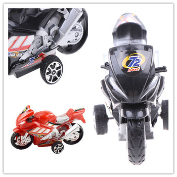 1X Best Children Collection Gift Decor cool Model Toy Off-road Vehicle Simulation Plastic Diecast Motorcycle 9.8x5.7cm image