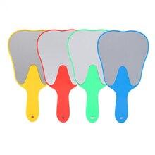 4 цвета полезное милое ручное зеркало в форме зуба с пластиковой ручкой уход за зубами полости рта небьющееся стоматологическое зеркало для стоматолога
