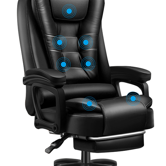 High Quality Boss Office Silla Gamer Poltrona Chair Can Lie Wheel Synthetic Leather With Footrest Ergonomics Office Furniture 4