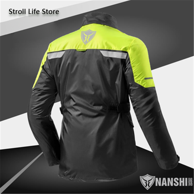 Double Layer Waterproof Rain Coat Pants Set Breathable Reflective Motorcycle Raincoat Riding Men and Women Split Thick Gift