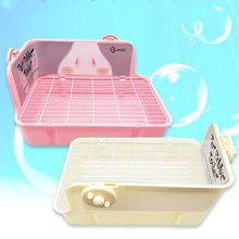 Pet Hamster Cat Rabbit Toilet Litter Corner Trays  Indoor Clean for Small Pets C63B