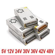 Regulated power supply 5V 12V 24V 36V 30V 48V 10W 25W 30W for LED strip CCTV switch lighting transformer