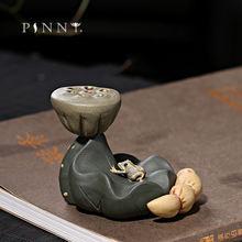 Держатель для чайника pinny из фиолетовой глины с лотосом керамические