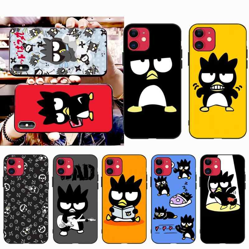 NBDRUICAI Cartoon badtz maru Newly Arrived Black Cell Phone Case for iPhone 11 pro XS MAX 8 7 6 6S Plus X 5S SE XR case