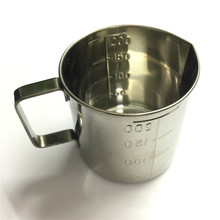 цена на Thickening 304 stainless steel measuring cup 200ml Milk tea cup, coffee, liquid measuring cup with graduated 200cc never rust