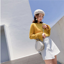 Sweet Pullover Sweater NEW multi-color knitted sweater in autumn and winter  Elasticity Pullovers