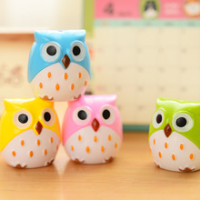Korean Cute Creative Pencil Sharpeners Cartoon OWL Animal Plastic for Kids