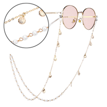 Fashion Pearl Sunglasses Chain Reading Glasses Chain For Women Casual Beaded Shell Eyeglass Chains R