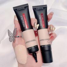 Rosto fundação líquido macio matte corretivo primer base de maquiagem controle de óleo invisível poros creme facial clarear cosméticos da pele