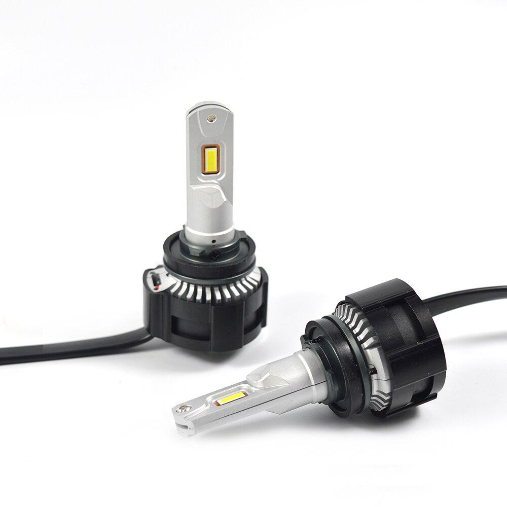 2X H4 светодиодный H7 H11 H8 HB4 HB3 5202 Авто P18 автомобильные лампы для передних фар 104 Вт 18000LM стайлинга автомобилей Яркий белый светодиодный автомобильный 0,15 мм - 4