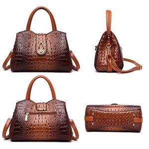 Image 3 - DIINOVIVO, bolsos de mano Vintage de cocodrilo para mujer, de piel sintética de alta calidad, bolsos de hombro para mujer, de marca famosa bolso cruzado, nuevo WHDV1225
