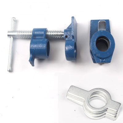 """3/4  Heavy Duty Pipe Clamp Woodworking Wood Gluing Pipe Clamp 3/4""""  Pipe Clamp Fixture Carpenter Woodworking Tools"""