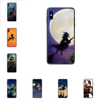TPU Mobile Cases Covers Flying Witch For Samsung Galaxy A10S A20 A20S A20E A21S A30S A40 A50 A70 A71 A70E A5 A6 A7 A8 A10 image