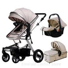 Baby Stroller 3 in 1 luxury pushchair newborn baby strollers