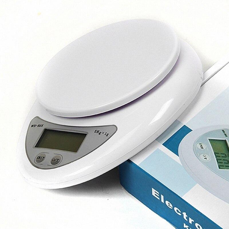 Balança de peso da balança do alimento da cozinha da escala 5kg 5000g/1g balança digital eletrônica nova comida da cozinha